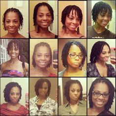 Different stages of my loc journey 18months.... June 2013 - December 2014