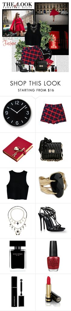 """""""Blood Red"""" by polybaby ❤ liked on Polyvore featuring Lemnos, Amara, Dsquared2, Narciso Rodriguez, OPI, Givenchy, Gucci and stylemoi"""