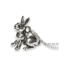 Rabbit Pendant Necklace 225 ❤ liked on Polyvore featuring jewelry and necklaces