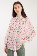 Louche Byron Flower Speckle Print Shirt White - Joy the Store Joy The Store, Checked Trousers, Polished Look, Fashion Outfits, Womens Fashion, Wardrobe Staples, Printed Shirts, Floral Prints, Ruffle Blouse