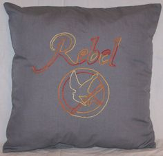Hunger Games Inspired, Rebel, Throw Pillow, Summer Sale via Etsy