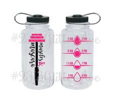 Muscles and Mascara Water Bottle with Water Intake Tracker Clear Tumblers, Diy Tumblers, Plastic Tumblers, Water Intake Tracker, Water Bottle Tracker, Gallon Water Bottle, Cute Water Bottles, Vinyl Board, Water Bottle Design