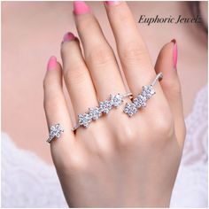 Divine Flower Goddess CZ Double Finger Ring Item #: DC-CZ-DFR-102 TO BUY: Comment with your email address, and you'll receive a secure checkout link. Price: $98.00. A unique piece that is sure to make you sparkle. DETAILS & CARE ▫️Adjustable (Fits most ha