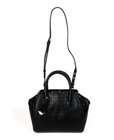 Rebecca Minkoff 'Mini Perry' Black Croc Handbag