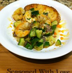 Shrimp and Squash with Chile Oil