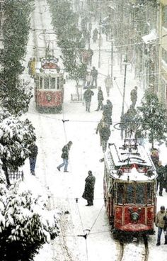 Beyoglu, Istanbul, Turkey in winter...
