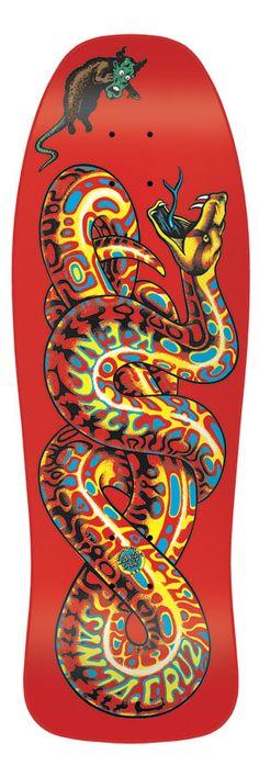 Brand: Santa Cruz  Pro Model: Kendall Snake  Size: 9.975in x 30.125
