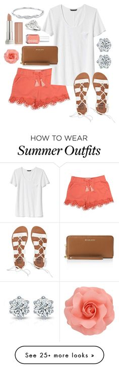 """""""Summer outfit #2"""" by pippianne17 on Polyvore featuring Chloé, Banana Republic, Billabong, Essie, MICHAEL Michael Kors and Maybelline"""
