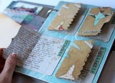 Glitz Design - Happy Travels mini album with mini file folders for journaling!: Glitz Design – Happy Travels mini album with mini file folders for journaling! Mini Albums, Mini Scrapbook Albums, Scrapbook Journal, Travel Scrapbook, Bullet Journal Ideas, Junk Journal, Travel Album, Handmade Books, Art Journal Pages