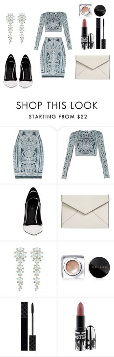 """Sin título #184"" by sylvia-aylin on Polyvore featuring moda, Hervé Léger, Greymer, Rebecca Minkoff, Bobbi Brown Cosmetics, Gucci y MAC Cosmetics"