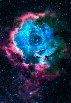rosette nebula. i got one of my tattoos of this constellation but with Happy care bear stars