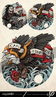Bald Eagle Heart Tattoo - Sam Phillips - Artist . Illustrator . Graphic Designer