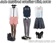 Jade inspired outfits with bows