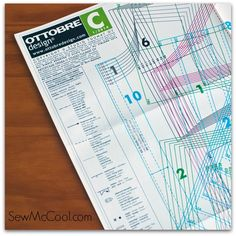 Learn how to read an Ottobre pattern with sewmccool.com! These patterns can look tricky to American sewists, but with some quick reading, you'll understand them quickly! Part of a Euro-sewing series on the sewmccool.com blog.
