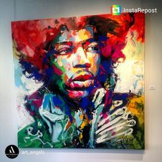 This great piece of work of Jimi Hendrix, is by Voka