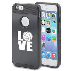 For iPhone SE 5s 6 6s 7 Plus Shockproof Impact Hard Case Cover Love Volleyball