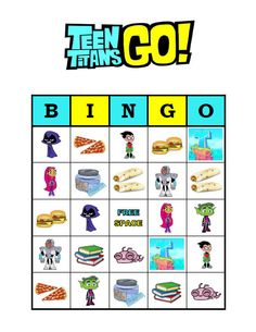 BIRTHDAY PARTY BINGO GAME!  This listing includes a set of 30 unique Teen Titans Go bingo cards as a PDF file for you to download and print out. The