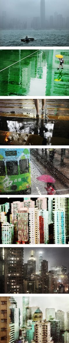 Hong Kong in the Rain: A Photo Series, Hong Kong, 2012, photographs by Christophe Jacrot.