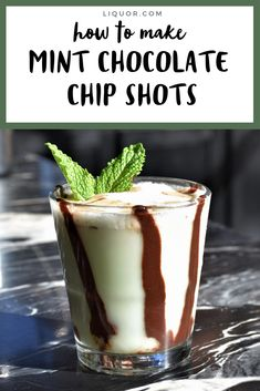 Learn how to make these Mint Chocolate Chip Shots for your St. This simple and easy to make dessert cocktail that uses Irish cream, crème de menthe and Frangelico liqueurs is destined to be a favorite. Chocolate Shots, Chocolate Cocktails, Mint Chocolate Chips, Cocktail Shots, Cocktail Desserts, Cocktail Recipes, Classic Cocktails, Fun Cocktails, Party Drinks