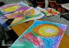 """Workshop Intuitives Malen - """"Malen, was die Seele sieht."""" www.connywolf.com"""