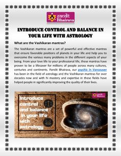 Introduce control and balance in your life with astrology. Know more details at 780 280 Best Psychics, Your Life, Astrology, Positivity, Optimism