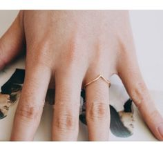 """Cheveron knuckle or midi ring Rose gold plated """"V"""" shaped ring-- 2 pack! Ring size is 6! I wear an 8 and it works great as a midi ring:) Accessories"""