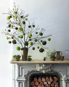 Moss tree ornaments - not just for Christmas! From Martha Stewart