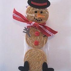 Snowman cookie pop