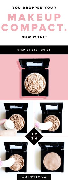 Nothing is worse than dropping and breaking your favorite makeup compact! If you find that your favorite blush or powder is a crumbled mess, this tutorial will help you put it back in one piece.