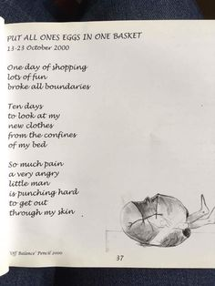 A poem by @CorinaDuyn, an artist with #MyalgicE, summing up the unfortunate payback in the illness.  From her book, Hatched, http://www.corinaduyn.com/site/buy-wellness-art-and-books-by-corina-duyn/hatched-re-hatched/ … (posted with permission)  #MEcfs #CFS #MyalgicEncephalomyelitis