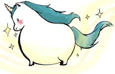 Pleasingly plump unicorn.