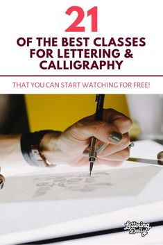 21 OF THE BEST CLASSES FOR LETTERING & CALLIGRAPHY – Lettering Daily