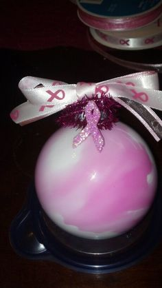 Breast cancer awearness ornament.