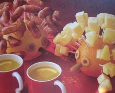 """Porcupines from Betterware """"Children's Party Cooking"""" by Carole Handslip (1991 edition)"""