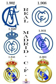 Todos los escudos del Real Madrid