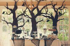 Spooky Halloween Party Dessert Table