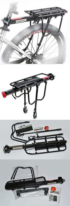 Carrier and Pannier Racks 177836: Acomfort 110 Lbs Capacity Adjustable Bike Luggage Cargo Rack Bicycle Accessories -> BUY IT NOW ONLY: $32.52 on eBay!