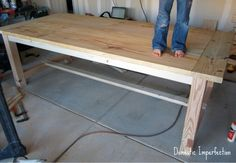 diy dining room table....this is exactly what I want