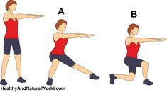 Side and cross over lunges
