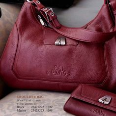🎉HP🎉SO RACHEL MERLOT BAG BY LONGABERGER Pebbled leather shoulder bag So Rachel - Longaberger SR Logo on front with silver accent piece Zippered closure Interior has zippered and 2 slip pockets. NWOT. SEE 1st pic for bag size Longaberger Bags Shoulder Bags