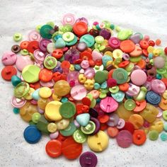 100 Button SHANK and TUNNEL Back Mix All by MellowMoonSupply, $6.50