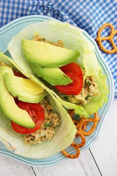 The Comfort of Cooking » Avocado Tuna Salad Lettuce Wraps