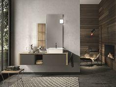 Mueble bajo lavabo lacado suspendido con cajones GIUNONE 356 Colección Giunone by Edoné by Agorà Group | diseño Marco Bortolin