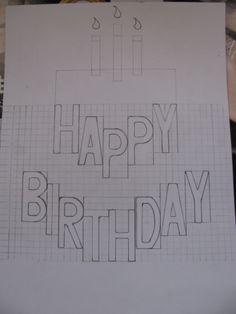 Birthday Card Pop Up, Birthday Card Template, Birthday Diy, Handmade Birthday Cards, Happy Birthday Cards, Kirigami, Explosion Box Design, Arte Pop Up, Diy Courses