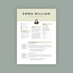 Watercolor Cv  Resume Template  M By Showy Template On