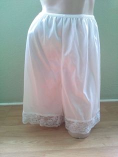 VTG 1980s White Bloomers NYLON Sexy 80s Sissy Granny Panties Tap Pants XLG #MMI #TapPants #Glamour