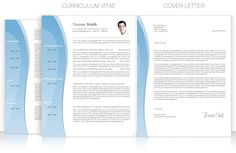 Cv Template Package Includes Professional Layout For 2 Pages