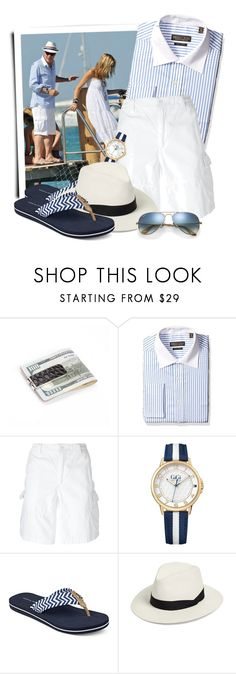 """""""Twill Stripe Shirt, Blue"""" by tasha1973 ❤ liked on Polyvore featuring Trump Home, Polo Ralph Lauren, Tommy Hilfiger, rag & bone, Ray-Ban, men's fashion and menswear"""
