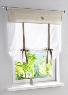 """Tenda a pacchetto """"Ashley"""", bpc living Window Cornice Diy, Window Cornices, Window Coverings, Window Curtains, Window Treatments, Tie Up Curtains, Curtains With Blinds, Diy Fashion Hacks, Shabby Home"""