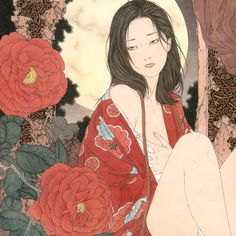 Music CD featuring the artwork of Takato Yamamoto inside and out is a compilation of sensual ambient music. Japanese Drawings, Japanese Artwork, Japanese Painting, Japanese Prints, Japanese Art Modern, Japanese Beauty, Art Inspo, Kunst Inspo, Japan Illustration
